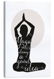 Canvas print  Yoga - Amy and Kurt
