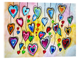 Acrylic print  Awesome Colorful Hearts - siegfried2838