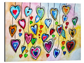 Aluminium print  Awesome Colorful Hearts - siegfried2838