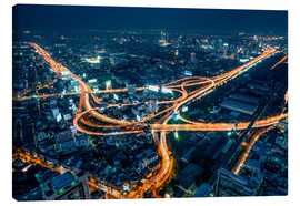 Canvas print  Aerial view of Bangkok at night - Jan Christopher Becke