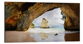 Aluminium print  Cathedral Cove - New Zealand - Michael Rucker