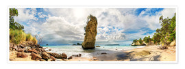 Premium poster  Dream beach - Cathedral Cove Beach - New Zealand - Michael Rucker