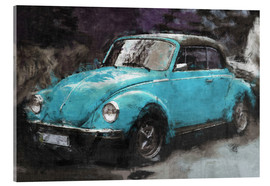 Acrylic print  VW käfer blue - LoRo-Art