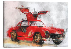 Canvas print  Oldtimer - red - LoRo-Art