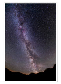 Premium poster The summer Milky Way in southern Alberta, Canada.