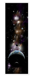 Premium poster  Earth-like planet with moons - Marc Ward