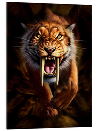 Acrylic glass  Full on view of a Saber-toothed Tiger - Jerry LoFaro