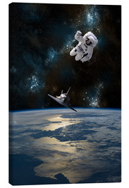 Canvas print  At astronaut drifting in space - Marc Ward