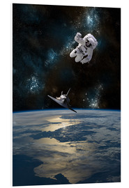 Foam board print  An Astronaut Drifting into Space - Marc Ward