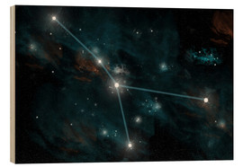 Wood print  An artist's depiction of the constellation Cancer. - Marc Ward