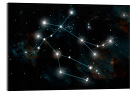 Acrylic print  Artist's depiction of the constellation Gemini the Twins. - Marc Ward
