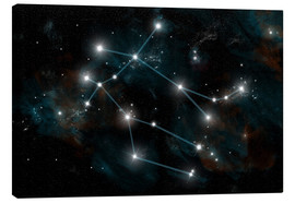 Canvas print  Artist's depiction of the constellation Gemini the Twins. - Marc Ward