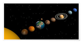 Premium poster  Planets of the solar system - Elena Duvernay