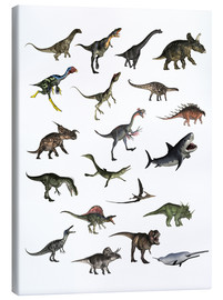 Canvas  Overview dinosaurs - Elena Duvernay