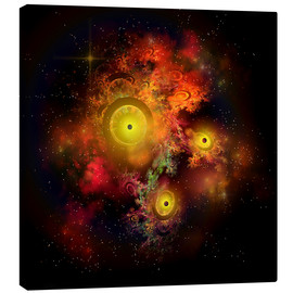 Canvas print  A collection of colorful nebulae, gases, dust, stars and interstellar matter. - Corey Ford