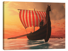 Canvas  A Viking longboat sails to new shores - Corey Ford