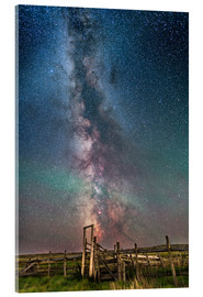 Acrylic print  Milky Way over an old ranch corral. - Alan Dyer