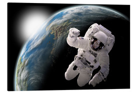Aluminium print  Astronaut in space - Marc Ward