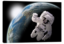 Canvas print  Astronaut in space - Marc Ward