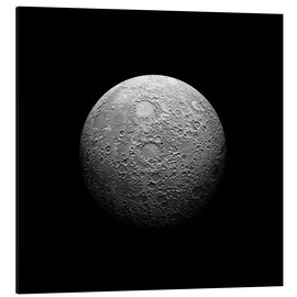 Aluminium print  Artist's depiction of a heavily cratered moon. - Marc Ward