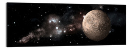 Acrylic print  A heavily cratered moon alone in deep space. - Marc Ward