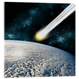 Acrylic print  Comet is racing towards the earths surface - Marc Ward