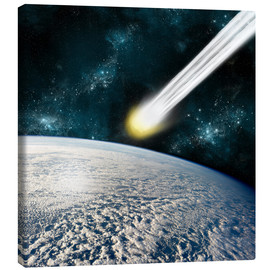 Canvas print  Comet is racing towards the earths surface - Marc Ward