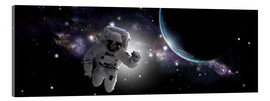 Acrylic print  Astronaut floating in outer space - Marc Ward