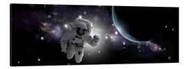 Aluminium print  Astronaut floating in outer space - Marc Ward