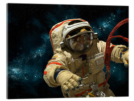 Acrylic print  A cosmonaut against a background of stars. - Marc Ward
