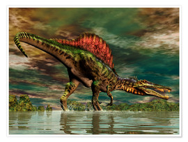 Premium poster  Spinosaurus from the Cretaceous period - Philip Brownlow