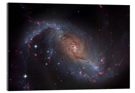 Acrylic print  Barred spiral galaxy NGC 1672 in the constellation Dorado. - Roberto Colombari