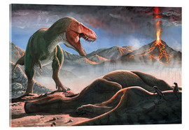Acrylic glass  A volcanic eruption destroys the hunting grounds of Tyrannosaurus Rex. - Sergey Krasovskiy