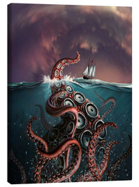 Canvas print  A fantastical depiction of the legendary Kraken. - Jerry LoFaro