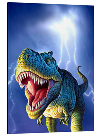 Alu-Dibond  T.Rex in the storm - Jerry LoFaro