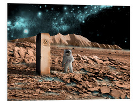Forex  Astronaut on an alien world discovers an artifact that indicates past intelligent life. - Marc Ward