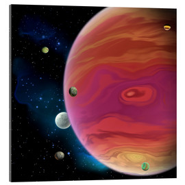 Acrylic print  Artist's concept of planet Jupiter. - Corey Ford