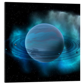 Acrylic print  Artist's concept of planet Neptune. - Corey Ford