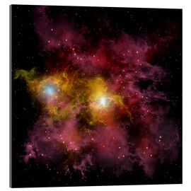 Acrylic print  Two stars locked into a tight orbit around each other. - Corey Ford