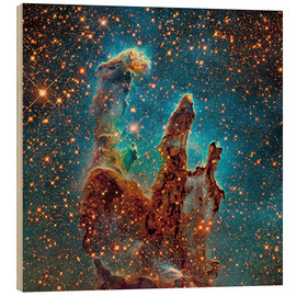 Wood print  Eagle Nebula - Robert Gendler