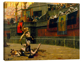 Canvas print  gladiator with his defeated opponent - John Parrot