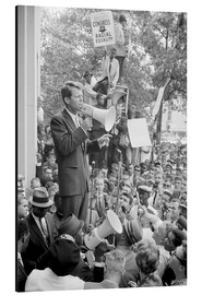 Aluminium print  Robert F. Kennedy talks about equal rights to a crowd - John Parrot