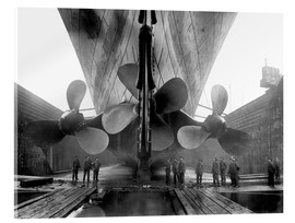Acrylic print  Shipyard workers with the Titanic - John Parrot