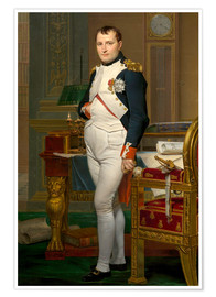 Premium poster  Vintage painting of The Emperor Napoleon in his study. - John Parrot