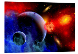 Acrylic print  A mixture of colorful stars, planets, nebulae and galaxies - Mark Stevenson