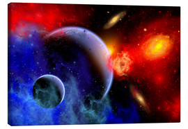 Canvas print  A mixture of colorful stars, planets, nebulae and galaxies - Mark Stevenson