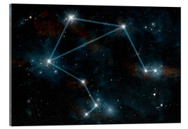 Acrylic print  Artist's depiction of the constellation Libra the Scales. - Marc Ward