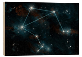 Wood print  Artist's depiction of the constellation Libra the Scales. - Marc Ward