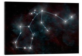 Acrylic print  Artist's depiction of the constellation Aquarius the Water Bearer. - Marc Ward