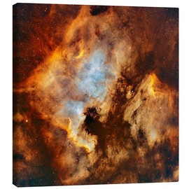 Canvas print  The North America Nebula and Pelican Nebula in Cygnus. - Rolf Geissinger